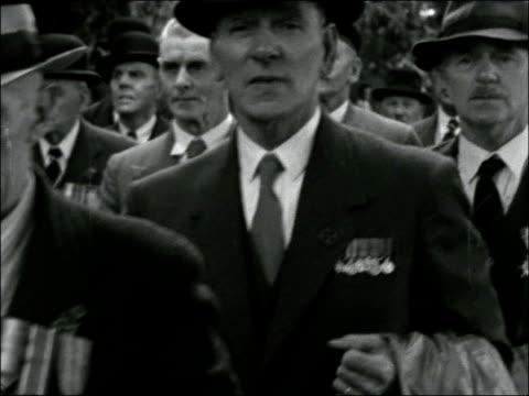 the old contemptibles parade at aldershot; england: hampshire: aldershot: ext various shots old contemptibles parade, war veterans marching /... - aldershot stock videos & royalty-free footage