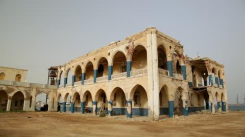 the old palace of haile selassie, massawa, eritrea on february 28, 2013 in massawa, eritrea. - palace bildbanksvideor och videomaterial från bakom kulisserna