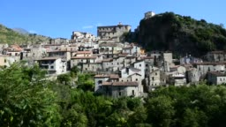 The old town of Papasidero, Italy.