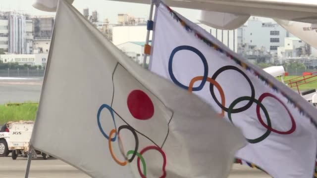 the olympic flag arrives in tokyo as japan's capital gears up to host the 2020 games with officials promising smooth sailing after rio's sometimes... - shaky stock videos & royalty-free footage