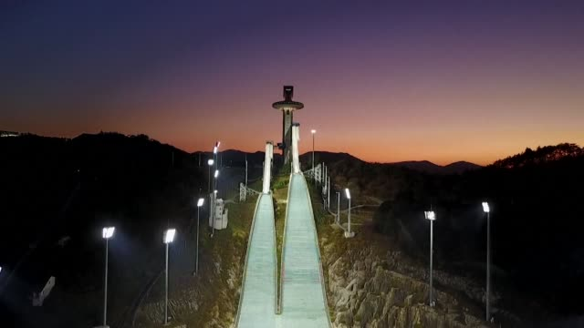 the olympic flame arrives in south korea 100 days ahead of the opening ceremony for the 2018 pyeongchang winter games - olympic torch stock videos & royalty-free footage