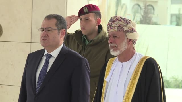 the omani minister responsible for foreign affairs met with palestinian president mahmud abbas on thursday in the west bank - minister president stock videos and b-roll footage