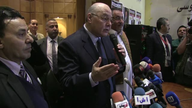 The only other candidate left in the race for the Egyptian elections Moussa Mostafa Moussa gives a press conference thanking incumbent Abdel Fattah...