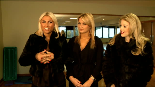 The Only Way Is Essex stars interview on new exercise DVD ENGLAND INT Sam Faiers Billie Faiers and Lydia Bright interview SOT On the different...