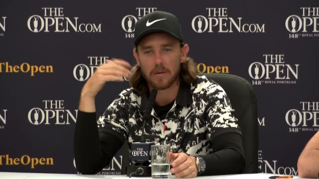 the open championship 2019: rory mcilroy fails in bid to win on home soil; northern ireland: county antrim: royal portrush: int tommy fleetwood... - リチャード・パロット点の映像素材/bロール