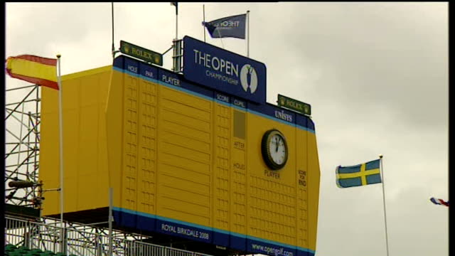 royal birkdale england lancashire southport royal birkdale ext empty scoreboard for the open championship - southport england stock videos & royalty-free footage