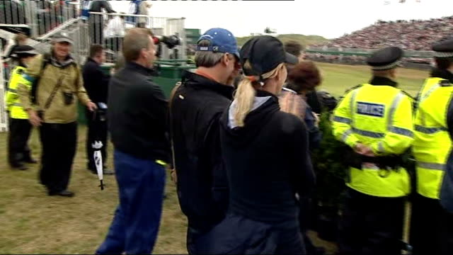 The Open Greg Norman feature package ENGLAND Lancashire Southport Royal Birkdale INT Reporter to camera Greg Norman on fairway Back View Chris Evert...