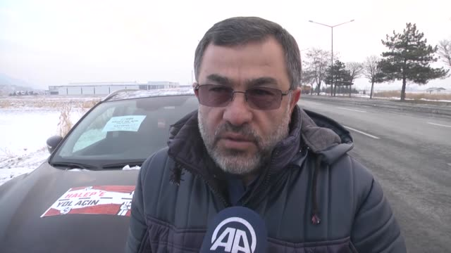 the open road to aleppo campaign saw around 100 vehicles organized by turkey's humanitarian relief foundation join a convoy in the central anatolian... - hatay stock videos & royalty-free footage