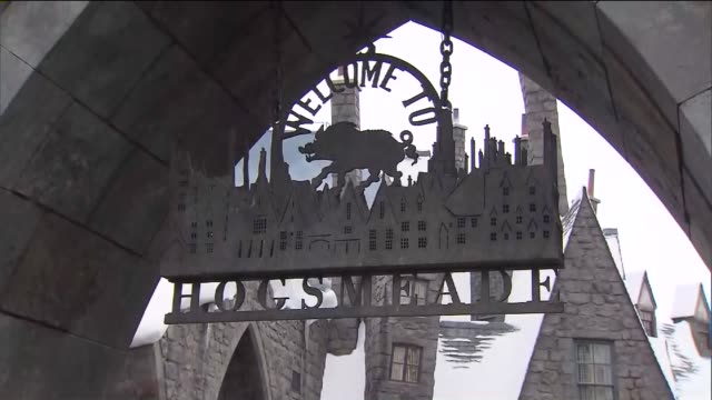 ktla the opening of wizarding world of harry potter at universal studios hollywood - harry potter stock videos & royalty-free footage