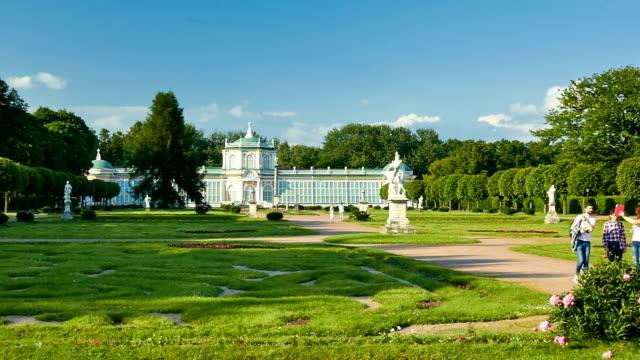 the orangerie in kuskovo estate - formal garden点の映像素材/bロール