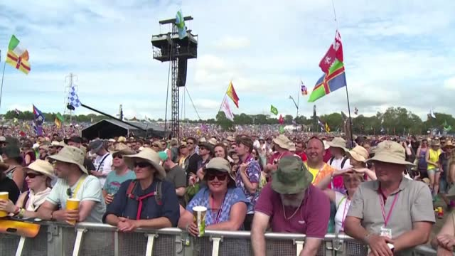the organisers of the annual glastonbury music festival say they have once again cancelled the event due to the coronavirus - event stock videos & royalty-free footage