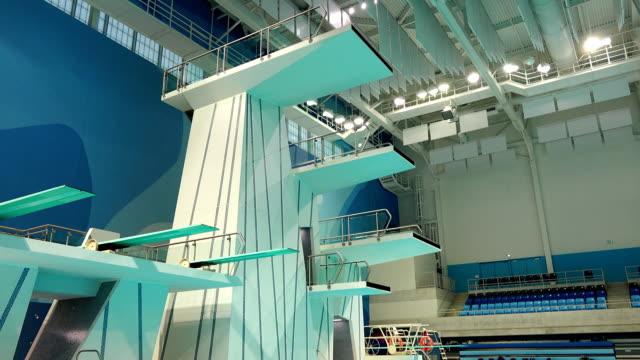 the organizing committee of the toronto 2015 parapan am games announced that tickets are already on sale for the event / in addition the media got to... - diving platform stock videos and b-roll footage