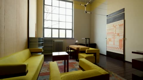the original study of walter gropius stands with furniture from the period at the bauhaus-universität-weimar university on april 04, 2019 in weimar,... - weimar stock videos & royalty-free footage