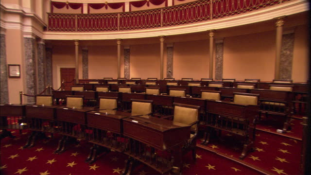 the original supreme court room is seen in the united states capitol. - supreme court stock videos & royalty-free footage