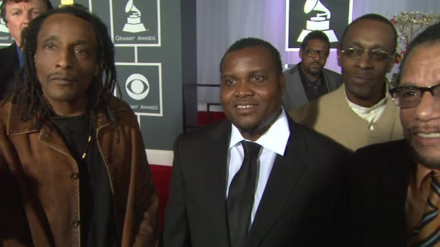interview the original wailers on the event and on the legacy of bob marley at the 55th annual grammy awards arrivals interviews in los angeles ca on... - grammy awards stock videos and b-roll footage