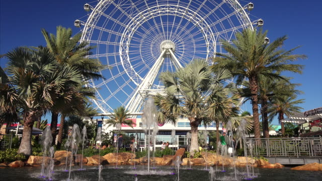 the orlando eye, in the heart of orlando, florida is the largest observation wheel on the east coast - orlando florida stock videos & royalty-free footage