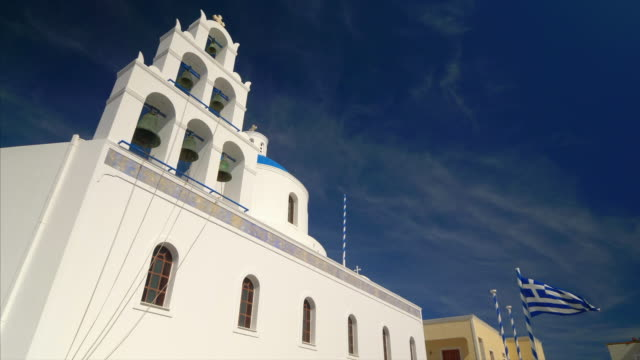 stockvideo's en b-roll-footage met the orthodox church in oia, santorini, greece - oia santorini