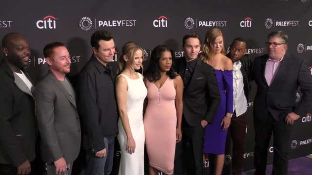 'the orville' cast at the paley center for media's 11th annual paleyfest fall tv preview of 'the orville' on september 13 2017 in beverly hills... - adrianne palicki stock videos and b-roll footage