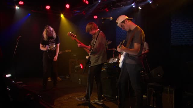 the orwells brought their punk and indie rock sound to the jbtv stage with their song 'who needs you' - punk music stock videos & royalty-free footage