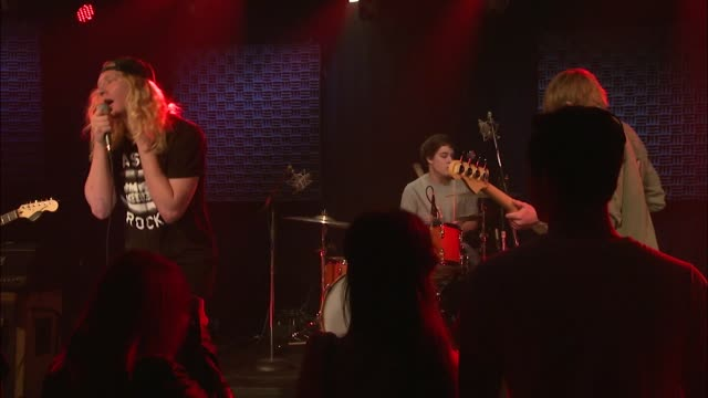 vídeos y material grabado en eventos de stock de the orwells brought their punk and indie rock sound to the jbtv stage with their song 'in my bed' - montaje documental