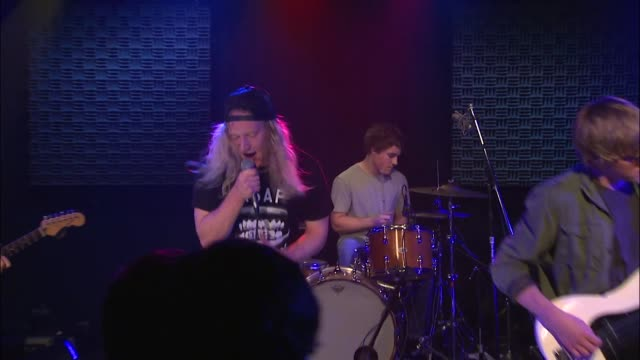 the orwells brought their punk and indie rock sound to the jbtv stage with their song 'the righteous one.' - punk music stock videos & royalty-free footage