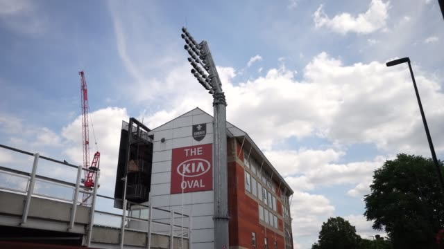 the oval, known for sponsorship reasons as the kia oval, is an international cricket ground in kennington, in the london borough of lambeth, in south... - oval kennington stock videos & royalty-free footage