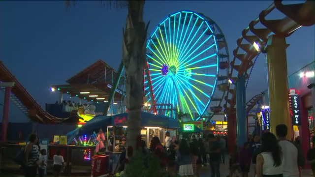 KTLA The Pacific Wheel Goes Green for Earth Day