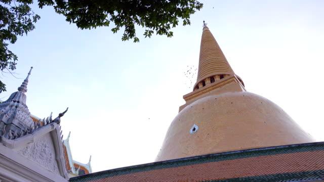 The pagoda in Wat Prapathomchedi, Nakhon Pathom, Thailand.