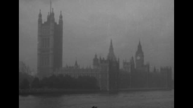 the palace of westminster, with the victoria tower at left and big ben at rear right; thames river is in foreground / note: exact year not known;... - city of westminster london stock videos & royalty-free footage