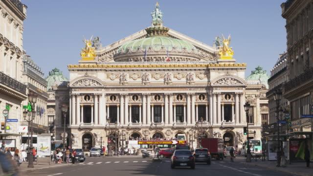 vidéos et rushes de the palais garnier or paris opera, paris, france. - lieux géographiques