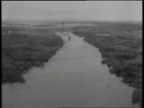 w the panama canal from the air / panama - 1913 stock-videos und b-roll-filmmaterial