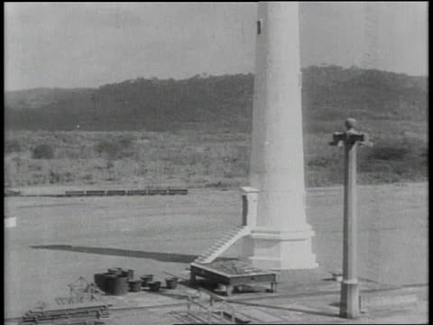 w the panama canal seen / panama - 1913 stock-videos und b-roll-filmmaterial