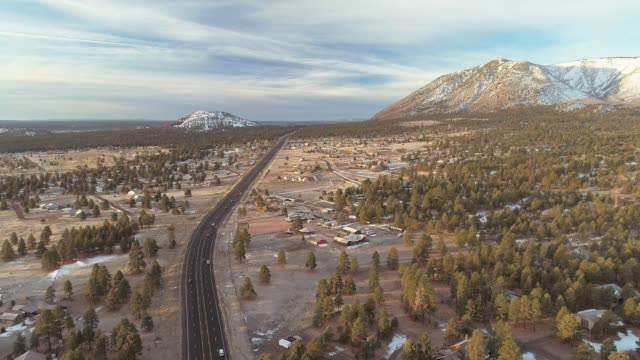 the panoramic view of the valley between mountains nearby flagstaff, arizona - arizona stock videos & royalty-free footage