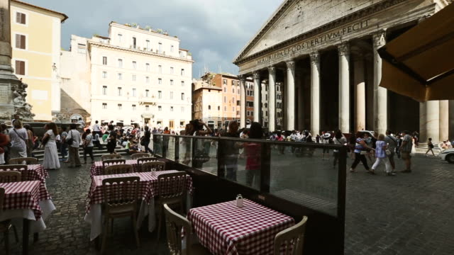 the pantheon in rome - pantheon rome stock videos and b-roll footage