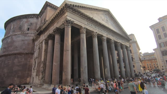 the pantheon temple in rome, italy, europe. - slow motion - pantheon rome stock videos and b-roll footage