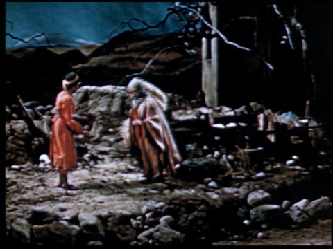 the parable of the prodigal son - 10 of 13 - marionette stock-videos und b-roll-filmmaterial