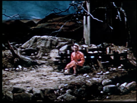 the parable of the prodigal son - 11 of 13 - marionette stock-videos und b-roll-filmmaterial