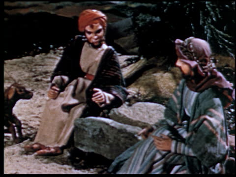 the parable of the prodigal son - 3 of 13 - marionette stock-videos und b-roll-filmmaterial