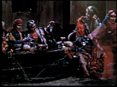 the parable of the prodigal son - 9 of 13 - marionette stock-videos und b-roll-filmmaterial