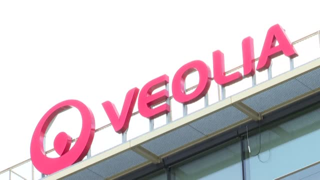 stockvideo's en b-roll-footage met the paris court of appeal has upheld the interim injunction which had suspended the acquisition by veolia of the shares held by engie in suez - clean