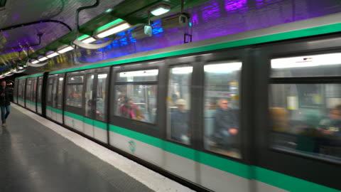 the paris metro - public transport stock videos & royalty-free footage