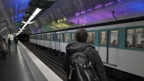 the paris metro - focus on background stock videos & royalty-free footage