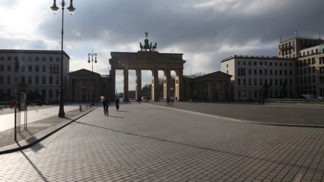 the pariser platz in front of the brandenburg gate stands empty following the tightening of measures affecting public life due to the coronavirus on... - germany stock videos & royalty-free footage
