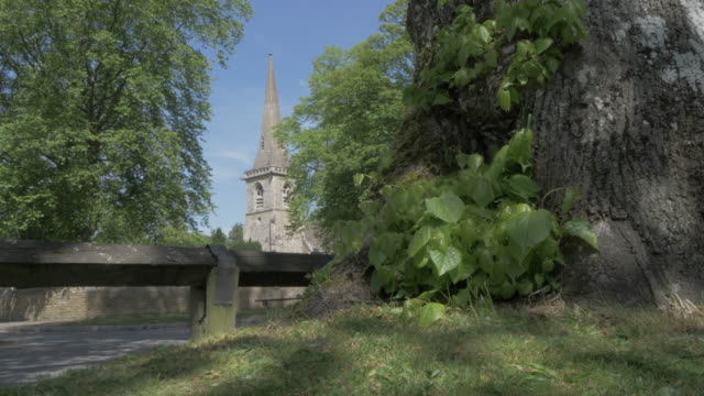 the parish church of st. mary in lower slaughter, cotswolds, gloucestershire, england, united kingdom, europe - gloucestershire stock videos and b-roll footage