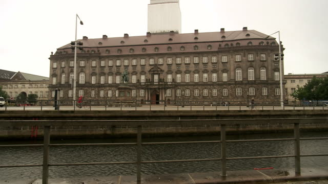 the parliament building in copenhagen denmark. - parliament building stock videos & royalty-free footage