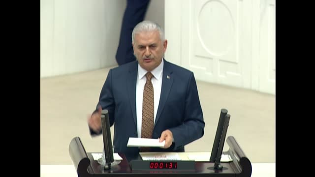 the parliament on friday ratified the bill calling for early elections in turkey on june 24 with lawmakers from ruling and opposition parties... - minister president stock videos and b-roll footage