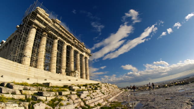 The Parthenon Being Rebuilt