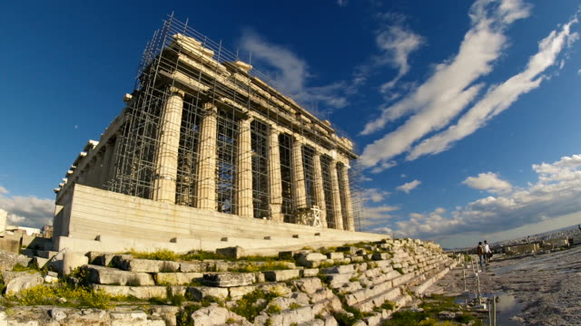 the parthenon being revitalized - parthenon athens stock videos and b-roll footage