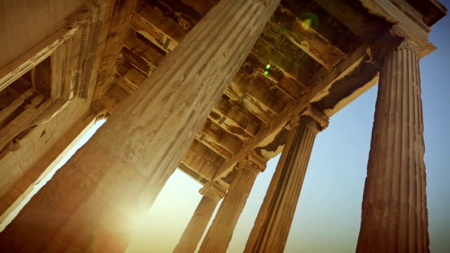 the parthenon in athens - old ruin stock videos and b-roll footage