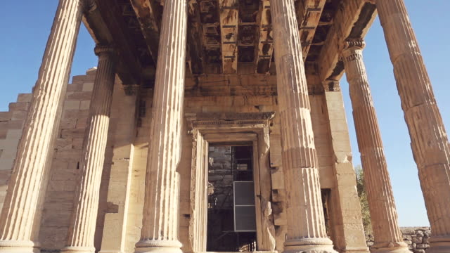 the parthenon in athens - parthenon athens stock videos and b-roll footage